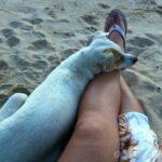 フィリピン・カオハガン島で、犬と