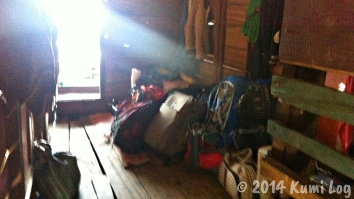 スローボートの中の荷物置き場