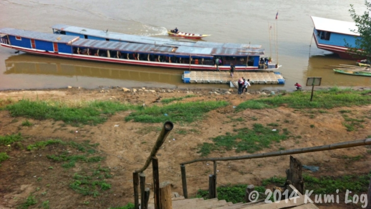 ルアンパバーンのスローボート船着き場