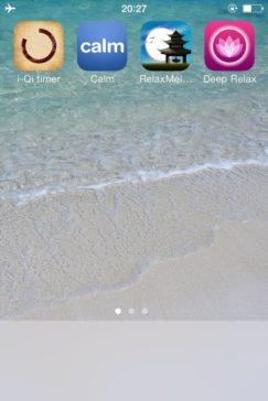 瞑想修行中のiPhoneのホーム画面