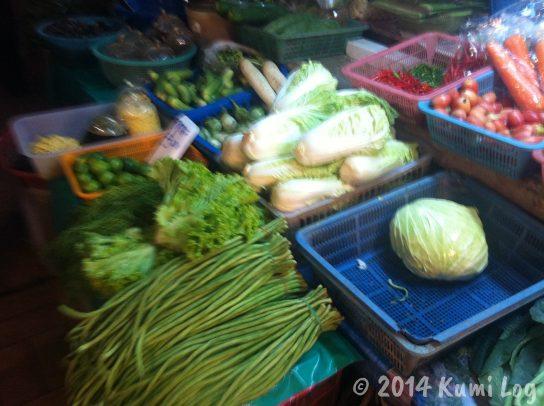 タイ・ローカル市場、野菜