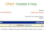 タイ国鉄の時刻表と、料金の計算方法