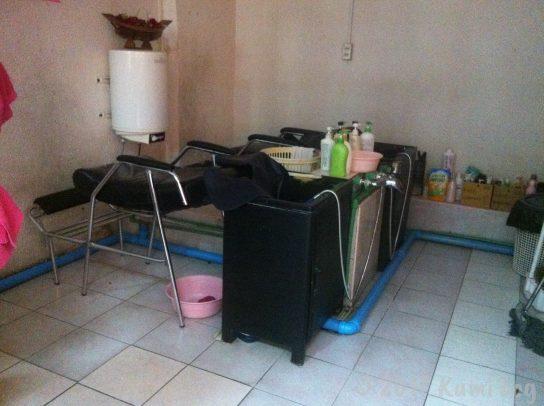 バンコクの美容室の様子