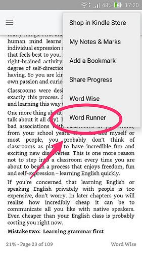 速読練習によさそう?Kindleアプリの新機能『Word Runner