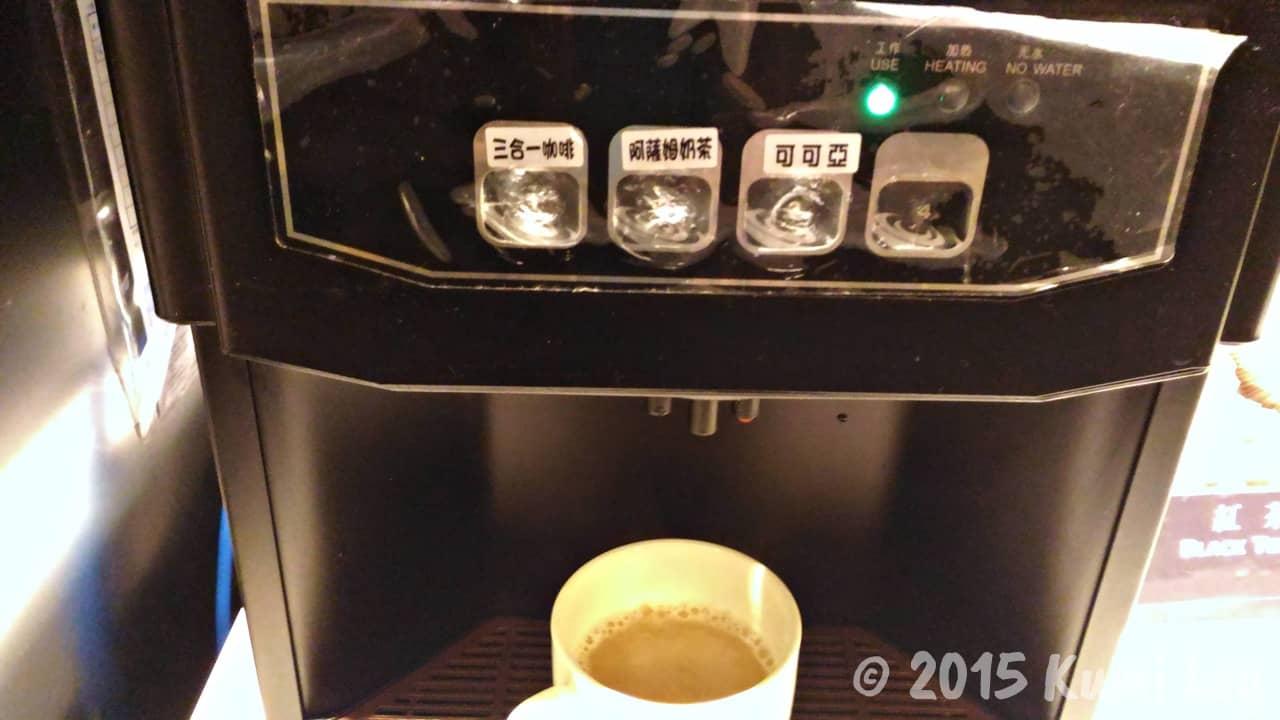 チャンスホテルの朝食・コーヒーマシン
