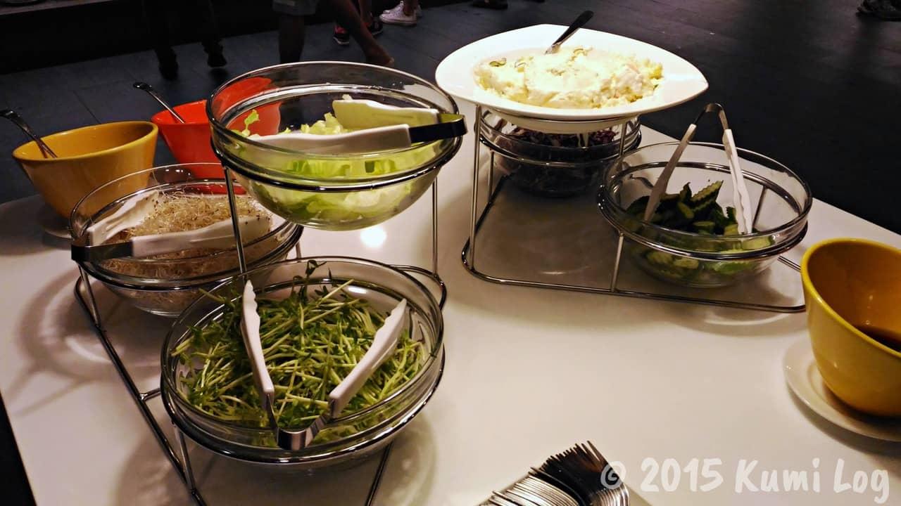 台中 チャンスホテル朝食のサラダ