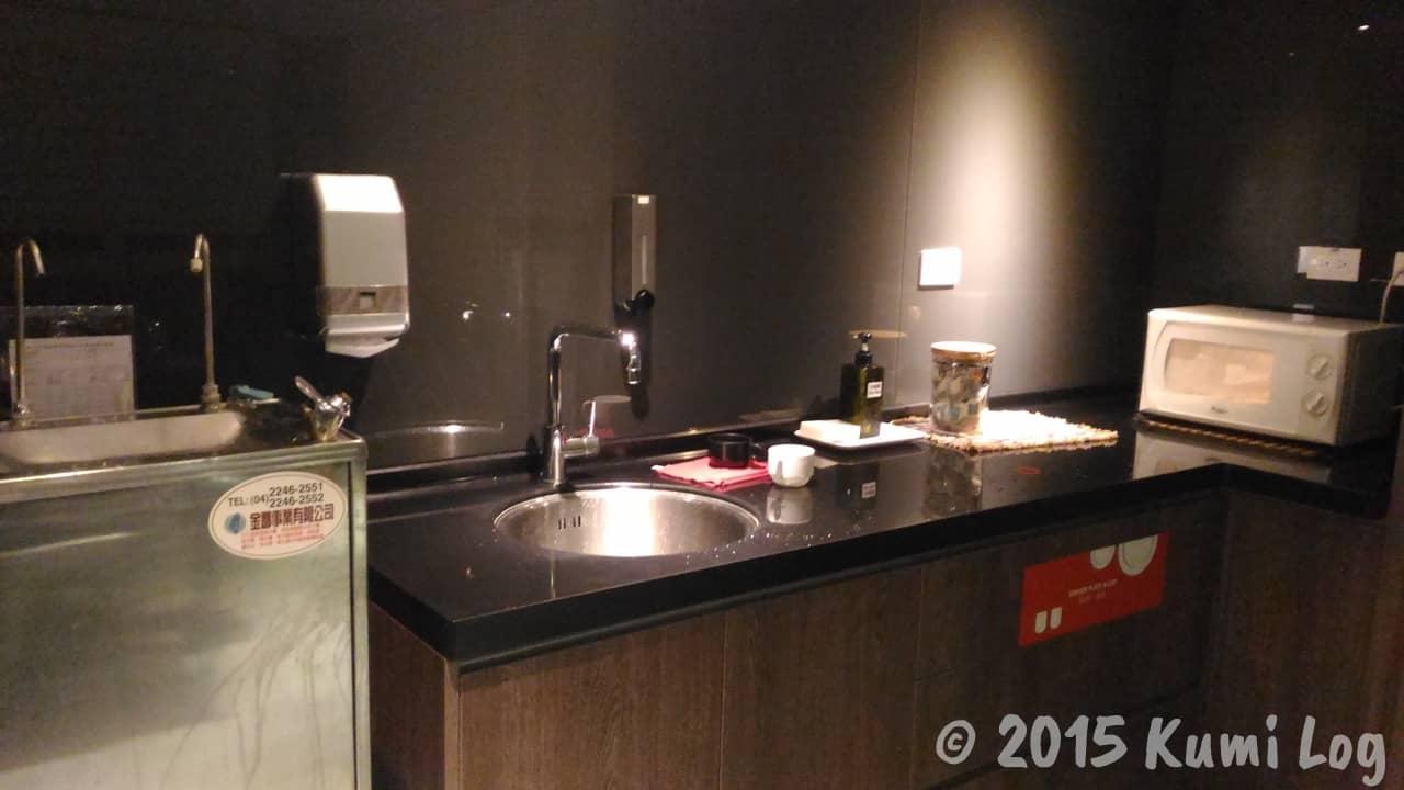 チャンスホテルの共用スペース・キッチン