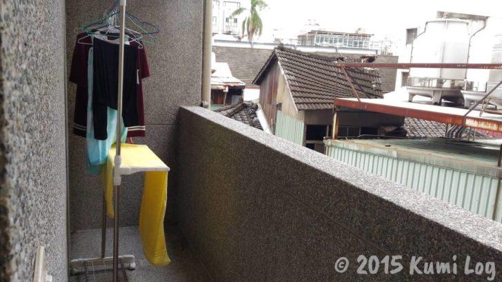 チャンスホテルの洗濯物干し場