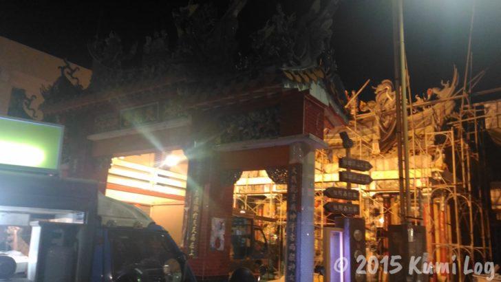恆春夜市の近くのお寺