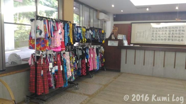 ㄚーㄚ旺温泉渡假村の水着を売っている売店