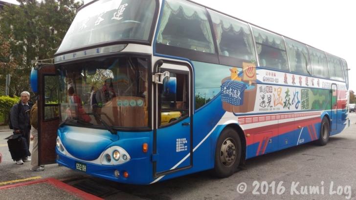 台東・知本温泉行きのバス
