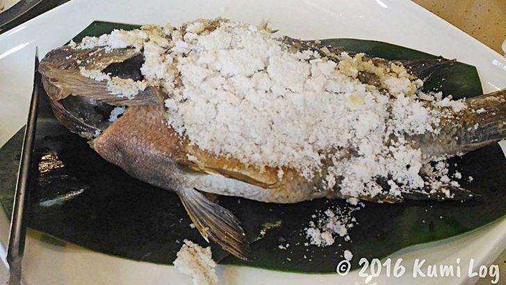 ハーブ詰めの焼き魚・搶鮮烤魚