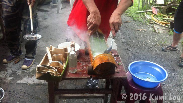 阿美族の伝統的なスープ作り