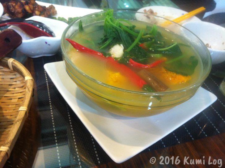 夏に出た野菜スープ