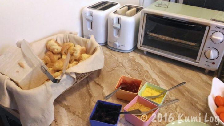 台東・I'm here B&B 朝食のパン