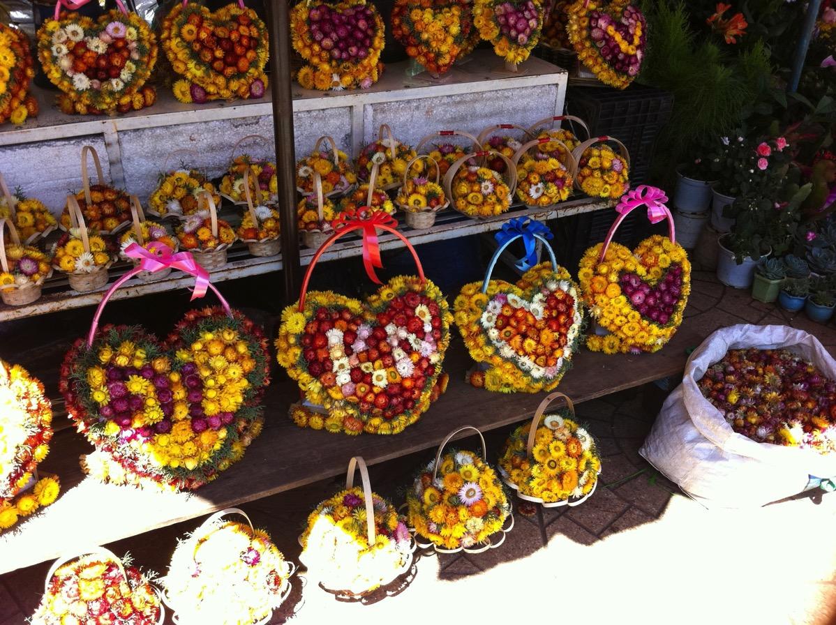 ダラット・花の飾りもの