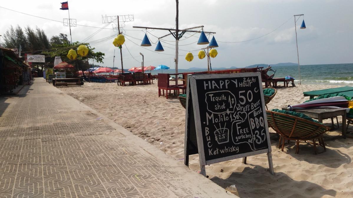 シアヌークビルのビーチ