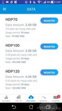 ベトナムSIM・Mobifone HDPプラン