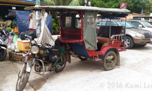カンボジア・シアヌークビルのトゥクトゥク