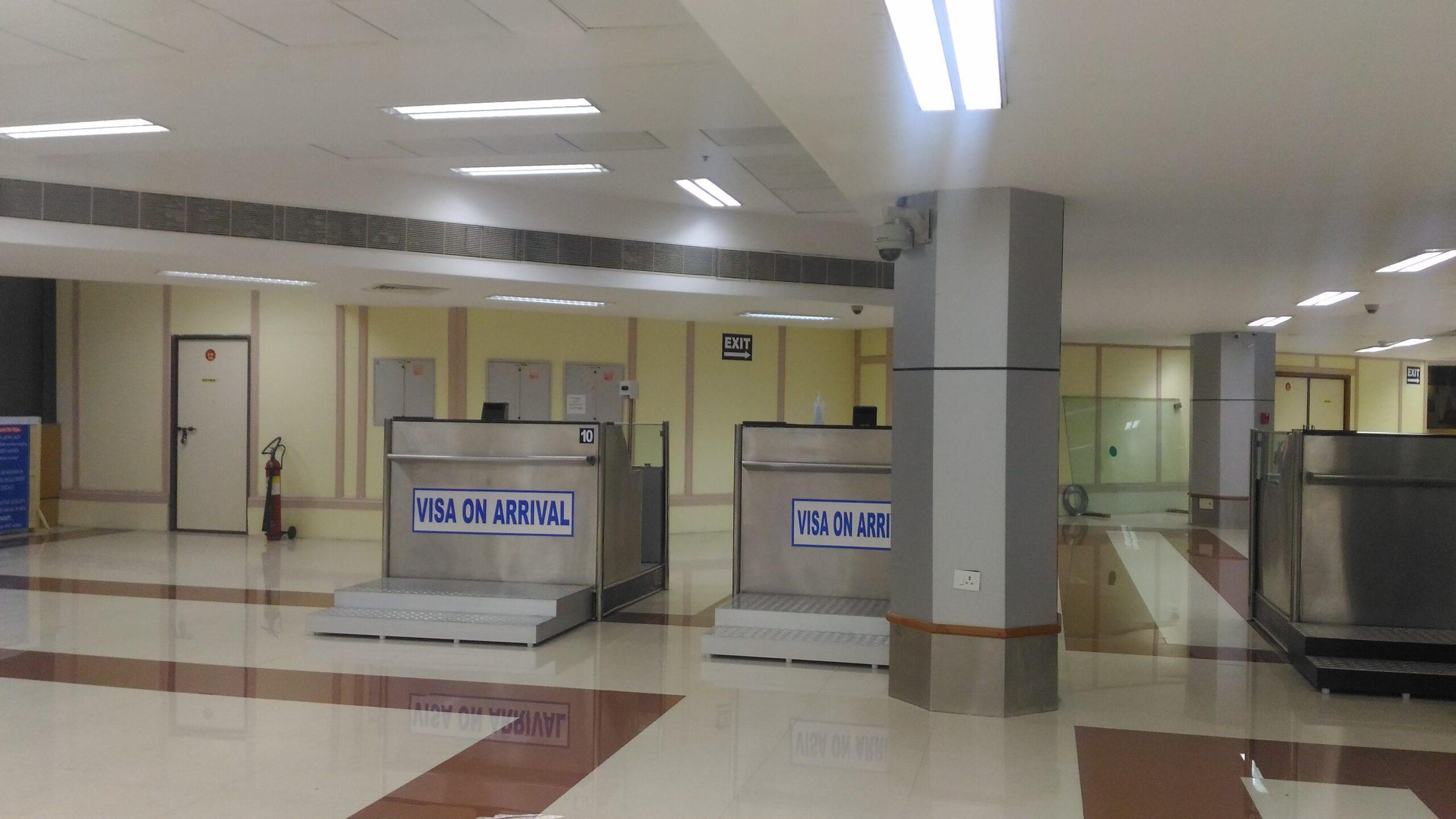 2016年7月インドの空港でアライバルビザ取得|インド入国チェンナイ空港編 (1)