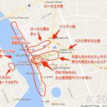 [カンボジア]地方都市カンポットの街なかを地図で紹介
