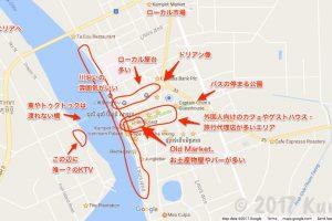 カンポット・地図