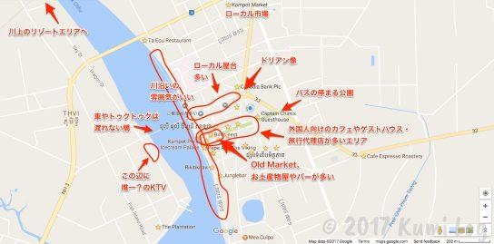 カンポットの地図