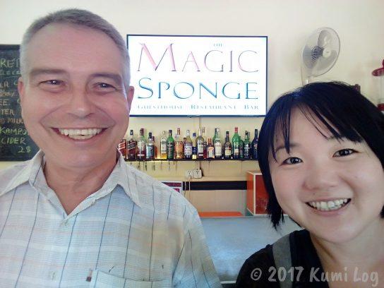 Magic Spongeのオーナー、Williamさんと