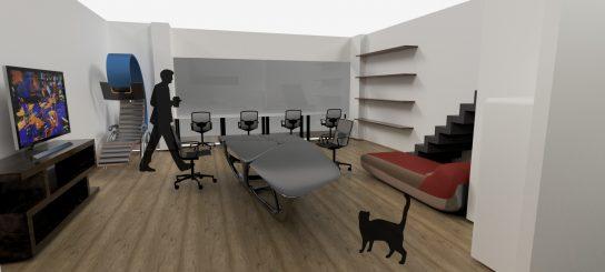 ギークハウス沖縄 3Dモデリング