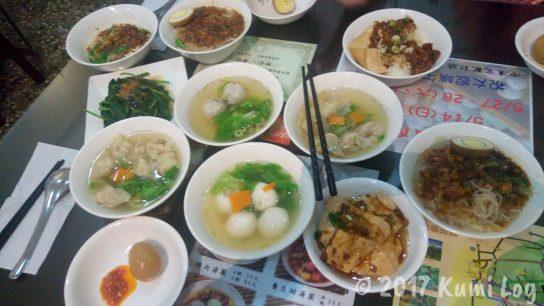 台湾・台中のご飯