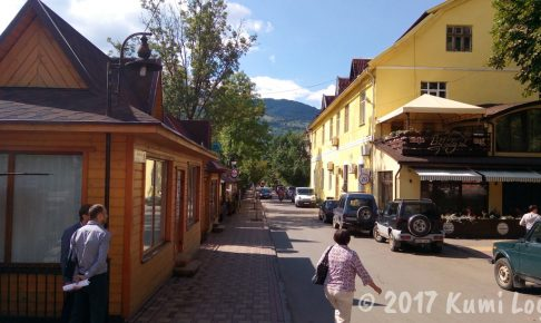ウクライナの小さな街・ラホフ(Rakhiv)