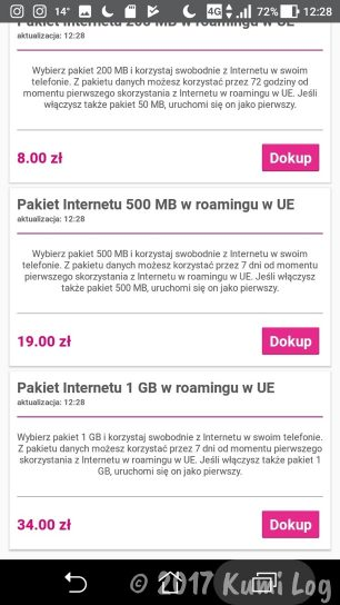 T-mobileのEUローミング