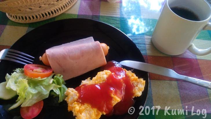 卵+ソーセージ+野菜