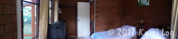 バンガロー式の個室