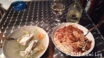 ある日の自炊夕食