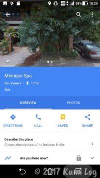 Mistique SpaのGoogle Maps情報