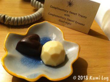 Sunrise Nha Trang、ベッドサイドのチョコレート