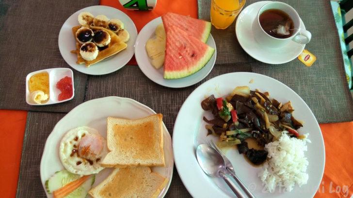 ビエンチャン・Mixay Paradise朝食の様子