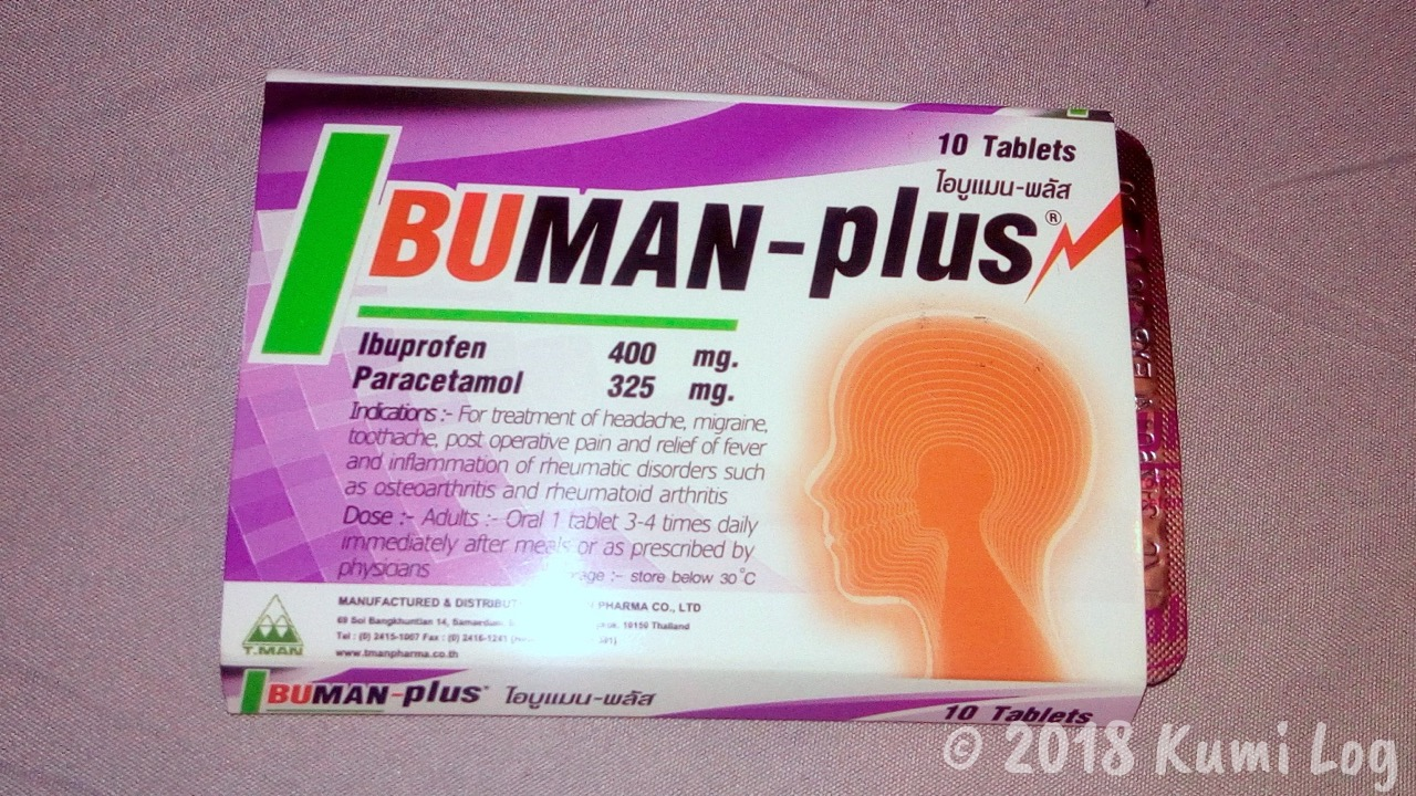 ビエンチャンで歯痛・痛み止めの薬(イブプロフェン&パラセタモール)を買った場所と値段