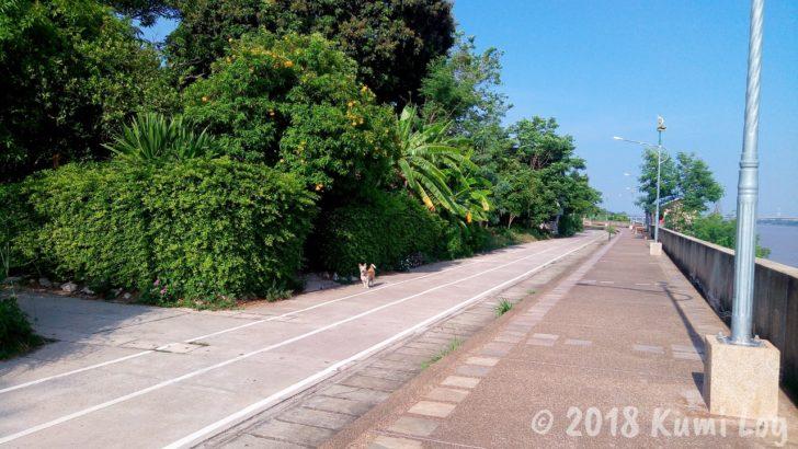 ノーンカーイ・朝のメコン川ロード