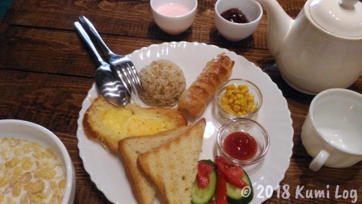 サンライズキャラバンステイの朝食