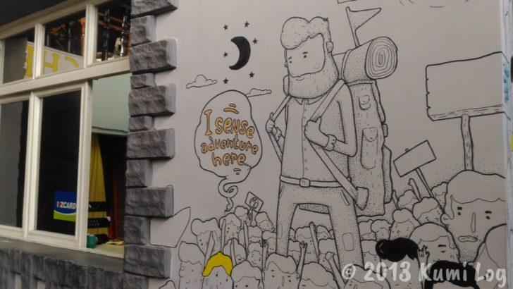 トップチャンホステル 壁画