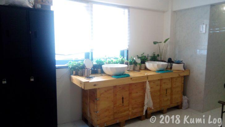 ドンムアン・Banda Hostel 洗面台