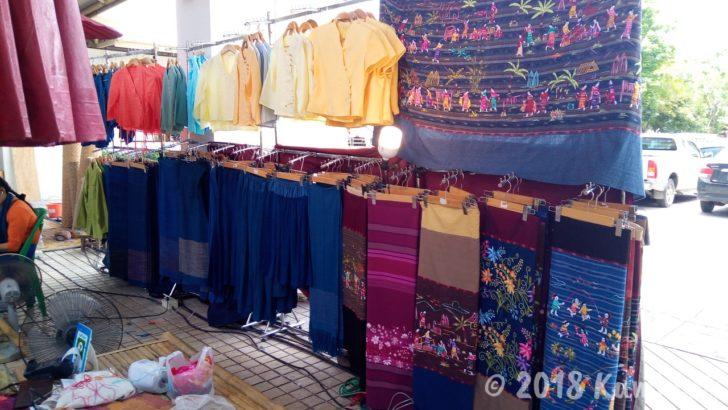 LANNA EXPO 2018 北部の布を売っています