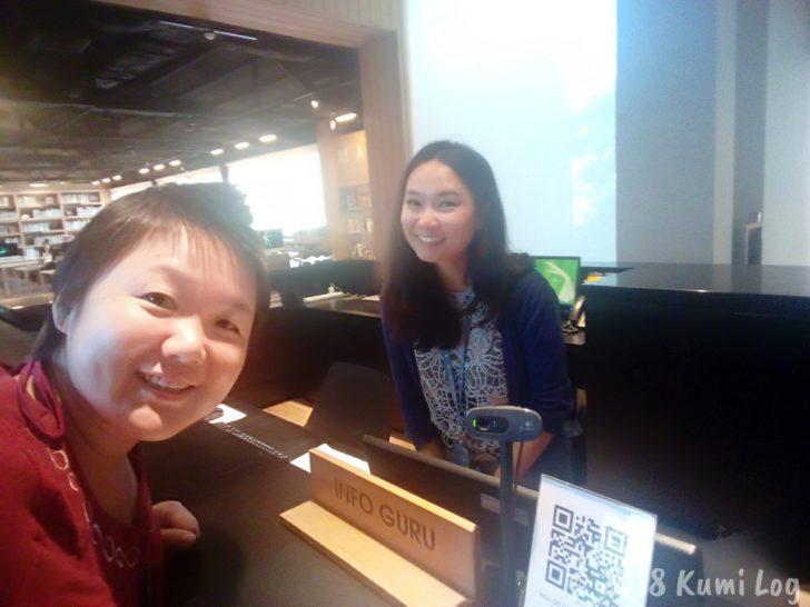 TCDC Chiang Maiの受付のお姉さん