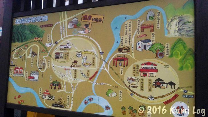 台湾 花蓮・瑞穂駅前の瑞穂郷マップ