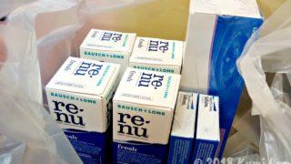 バンコクで買ったコンタクトレンズと保存液