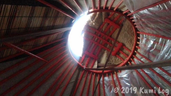 キルギス・ユルタの天井