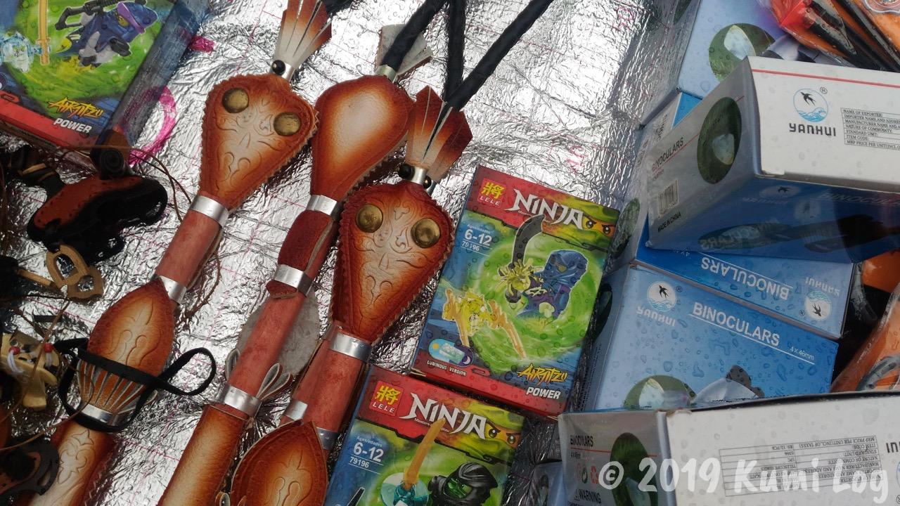 ワールドノマドゲームの会場で売っていた忍者のおもちゃ