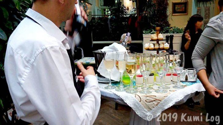 Baczewski Restaurantのスパークリングワイン!